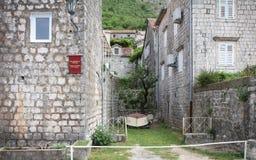 Perast. Historic town of Perast in Montenegro Royalty Free Stock Image