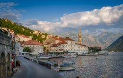 Perast historische stad in Montenegro stock fotografie