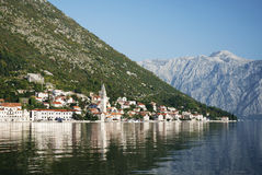 Perast in kotor bay montenegro Royalty Free Stock Images