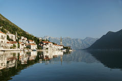 Perast in kotor bay montenegro Royalty Free Stock Photography