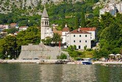 Perast Kotor fjärd, Montenegro arkivfoto