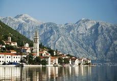 Perast in kotorbaai montenegro Royalty-vrije Stock Afbeelding