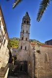 Perast, Montenegro, é uma cidade pequena na baía de Kotor Boka Kotorska fotos de stock