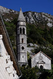 Perast Montenegro. Church old town historic Stock Image