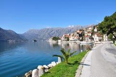 Perast Montenegro Arkivfoton