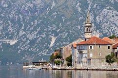 perast montenegro стоковое изображение