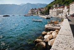 Perast in Montenegro. The bay of Kotor in Perast, Montenegro Royalty Free Stock Photos