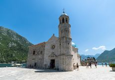 Perast, Montenegro - June 10. 2019: Church Of Our Lady Of Rocks On Island Of Gospa Od Skrpjela Royalty Free Stock Image