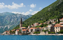 Perast. Montenegro. Perast is an old town on the Bay of Kotor in Montenegro Royalty Free Stock Image