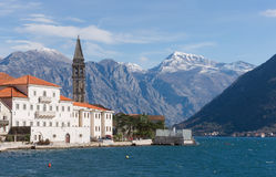 Perast. Montenegro. Perast is an old town on the Bay of Kotor. Montenegro Stock Photography