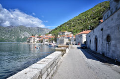 Perast, Montenegro, old town Stock Images