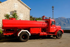 PERAST, MONTENEGRO The retro fire truck Stock Photo