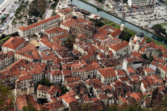 Perast, Montenegro. The town of Perast on the Bay of Kotor,Montenegro Royalty Free Stock Photos