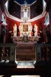 PERAST MONTENEGRO, WRZESIEŃ, - 04, 2016: Maryja Dziewica ikona w kościół Nasz dama skały w wysepce Kotor zatoka, Montenegro Obraz Royalty Free