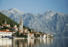 Perast no louro Montenegro do kotor Imagem de Stock Royalty Free