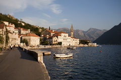 Perast, old town Stock Photos