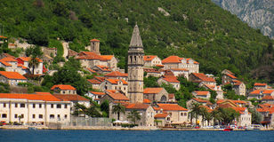 Perast oude stad Royalty-vrije Stock Afbeelding