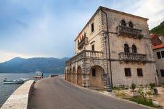 Perast stad, fjärd av Kotor, Montenegro royaltyfria foton