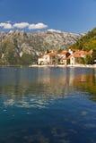 Perast sulla baia di Kotor, Montenegro Fotografia Stock Libera da Diritti