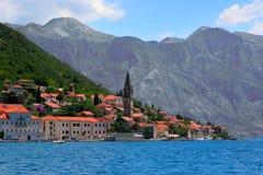 Perast town. In Kotor bay, Montenegro Royalty Free Stock Photo