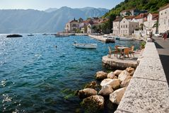 Perast. Town of Perast in the Bay of Kotor in Montenegro Stock Photography