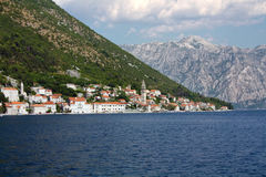 Perast town. In Boka-Kotor bay Royalty Free Stock Photography