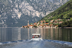 Perast town in Kotor bay.Montenegro. Stock Photography