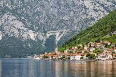 Perast town in Kotor bay.Montenegro. Royalty Free Stock Images