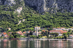 Perast town in Kotor bay.Montenegro. Royalty Free Stock Photos