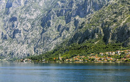 Perast town in Kotor bay.Montenegro. Stock Photo