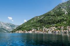 Perast town in Kotor bay.Montenegro. Royalty Free Stock Image
