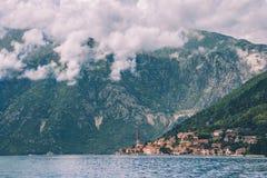 Perast Town on Kotorska Bay in Montenegro Royalty Free Stock Photos