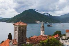 Perast Town on Kotorska Bay in Montenegro Royalty Free Stock Photo