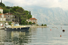 Perast town in Montenegro Stock Images