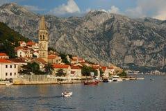 Perast view. Kotor Bay, Perast, Montenegro 2016 Royalty Free Stock Photo