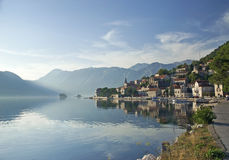 Perast village in the bay of kotor in montenegro Royalty Free Stock Images