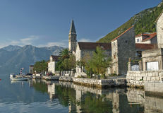 Perast village on kotor bay montenegro Stock Photos
