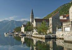 Perast village on kotor bay montenegro Stock Photos