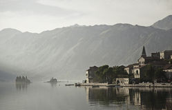 Perast village by kotor bay in montenegro Royalty Free Stock Image