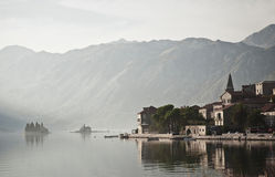 Perast village near kotor in montenegro Stock Photography