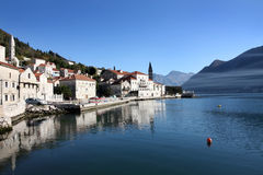 Perast village near Kotor, Montenegro Stock Photography
