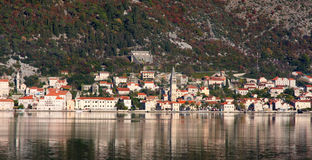 Perast village near Kotor, Montenegro Royalty Free Stock Photo
