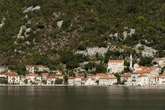 Perast village near Kotor, Montenegro Royalty Free Stock Images