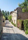 Peratallada Street with trees Stock Photography