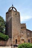 Peratallada-Turm Stockbild