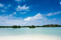 Perawan strand, Pari ö, Seribu öar, Indonesien Arkivbild