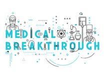 Percée de concept de médecine illustration de vecteur