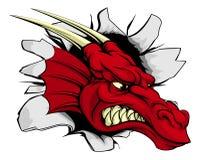 Percée rouge de dragon Images stock