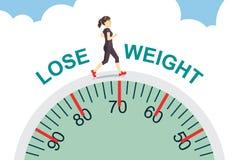 Perca o peso com movimentar-se ilustração do vetor