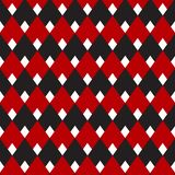 Percalle nero e rosso, modello senza cuciture del diamante, modello d'annata per fondo, tessuto, carta da parati, stampaggio di t royalty illustrazione gratis